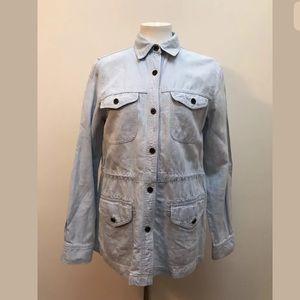 Lauren Ralph Jeans LRL Acid Denim Shirt waist tie